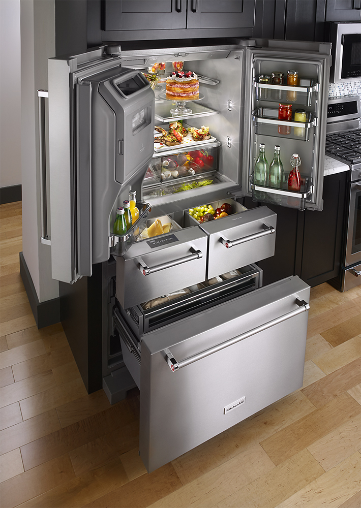 Kitchenaid Refrigerator Captivating Kitchenaid  25.8 Cuft5Door French Door Refrigerator Decorating Inspiration
