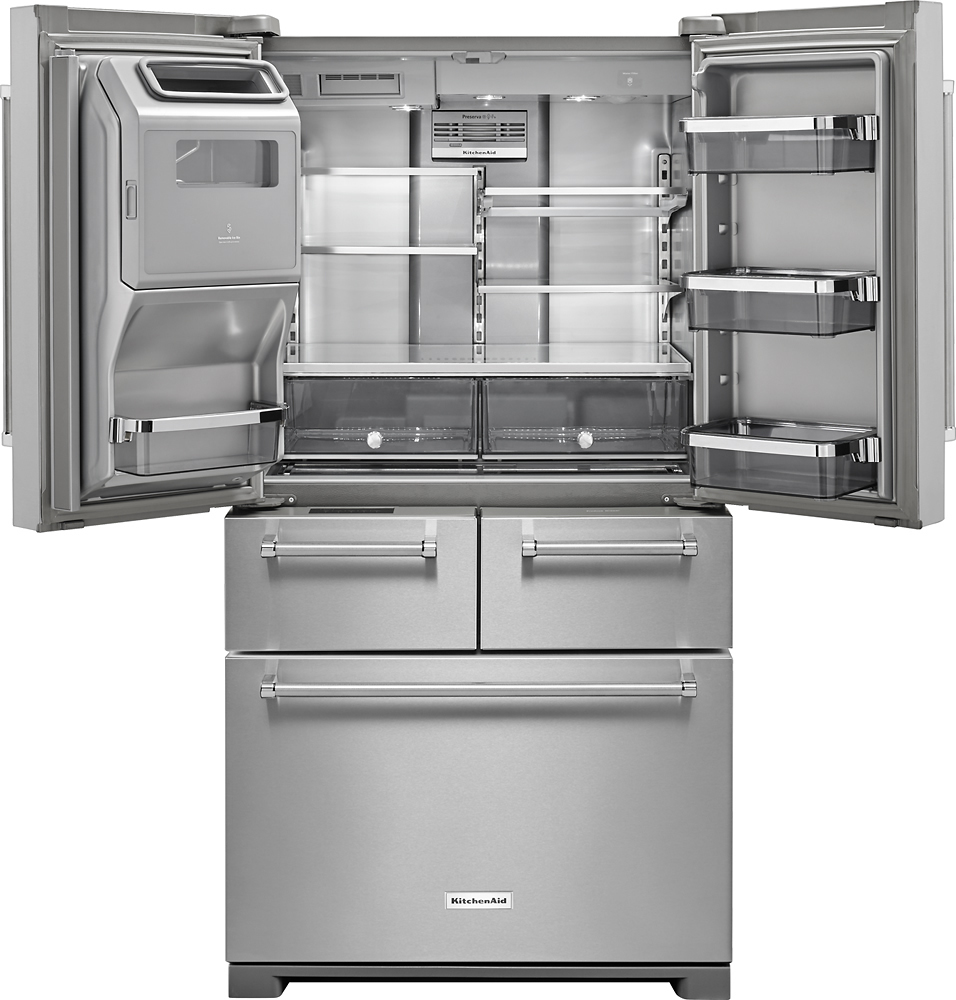 Kitchenaid 258 Cu Ft 5 Door French Door Refrigerator