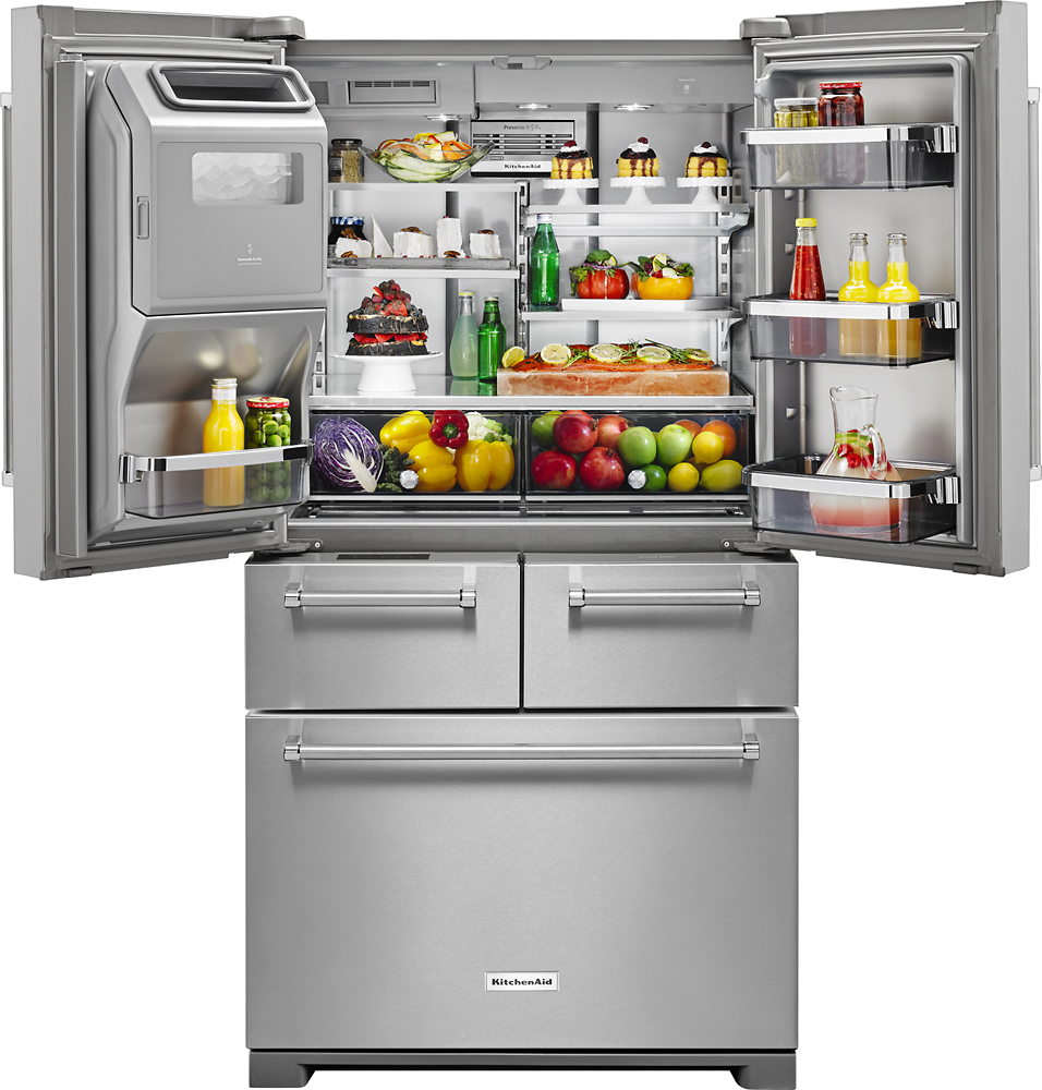 KitchenAid   25.8 Cu. Ft. 5 Door French Door Refrigerator   Stainless Steel  At Pacific Sales
