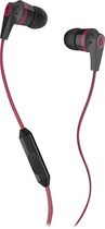 Skullcandy - Ink'd 2 Earbud Headphones - Red/Black