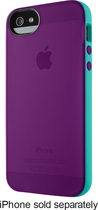 Belkin - Grip Candy Sheer Case for Apple® iPhone® 5 and 5s - Purple/Teal