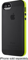 Belkin - Grip Candy Sheer Case for Apple® iPhone® 5 and 5s - Black/Green