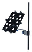 Quik Lok - Microphone Stand Adapter for Apple® iPad® and iPad 2 - Black