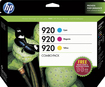 HP - 920 3-Pack Ink Cartridges - Cyan/Magenta/Yellow