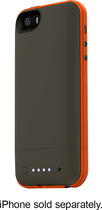 mophie - juice pack plus Outdoor Edition External Battery Case for Apple® iPhone® 5 and 5s - Gray/Orange