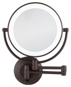 Zadro - Round LED-Lighted Wall Mirror - Bronze