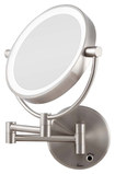 Zadro - Cordless LED-Lighted Wall-Mount Mirror - Silver