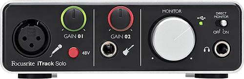 Focusrite - iTrack Solo USB Recording Interface - Silver