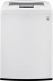 LG - 4.1 Cu. Ft. 8-Cycle High-Efficiency Top-Loading Washer - White