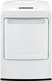 LG - 7.3 Cu. Ft. 9-Cycle Ultra-Large Capacity Gas Dryer - White