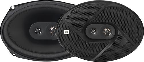 """JBL - GT6 Series 6"""" x 9"""" 3-Way Car Speakers with Plus One Polypropylene-Foam Cones (Pair) - Black"""