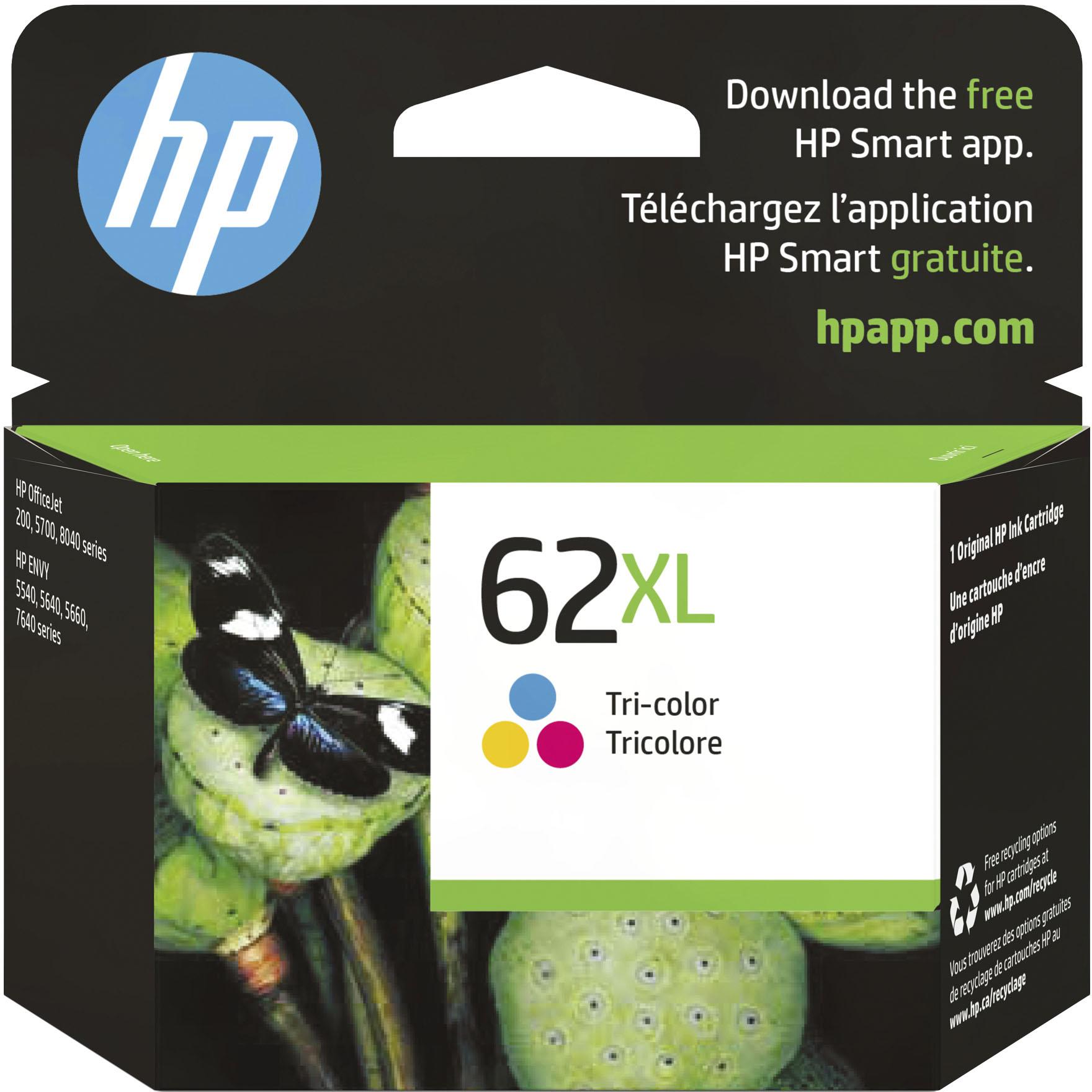 HP - 62XL High Yield Tri-Color Original Ink Cartridge - Cyan/Magenta/Yellow