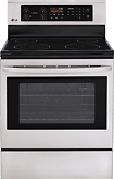 """LG - 30"""" Self-Cleaning Freestanding Electric Range - Stainless-Steel"""