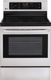 "LG - 30"" Self-Cleaning Freestanding Electric Range - Stainless-Steel"