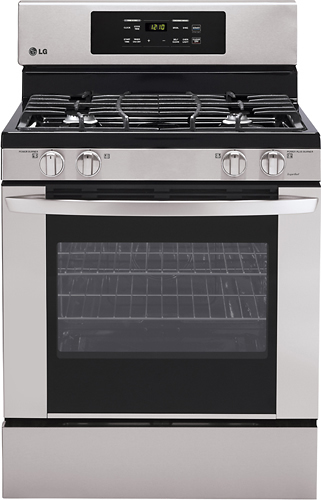 "LG 30"" Self-Cleaning Freestanding Gas Range Stainless Steel LRG3021ST"