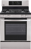 "LG - 30"" Self-Cleaning Freestanding Gas Range - Stainless-Steel"
