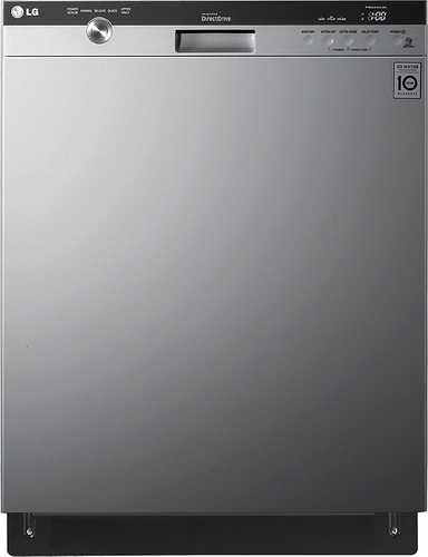"LG - 24"" Built-In Dishwasher with Stainless Steel Tub - Stainless steel"