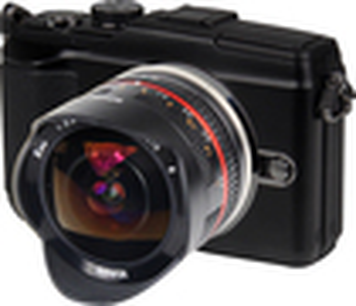 Bower - 8mm f/2.8 Ultra-Wide Fish-Eye Lens for Most Sony E (NEX) Digital Cameras - Black