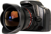 Bower - 8mm T3.8 Ultra-Wide Digital Fish-Eye Cine Lens for Most Canon DSLR Cameras and Camcorders - Black