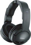 Sony - Wireless FM Over-the-Ear Headphones - Black