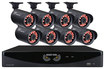 Night Owl - 8-Channel, 8-Camera Indoor/Outdoor DVR Security System - Black