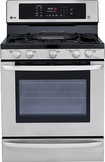 "LG - EasyClean 30"" Self-Cleaning Freestanding Gas Convection Range - Stainless-Steel"