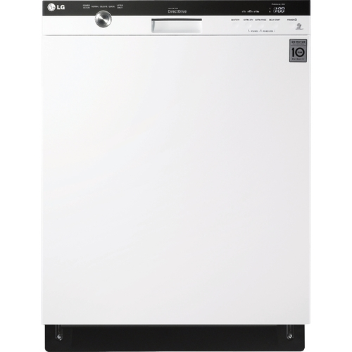 "LG - 24"" Built-In Dishwasher with Stainless Steel Tub - White"