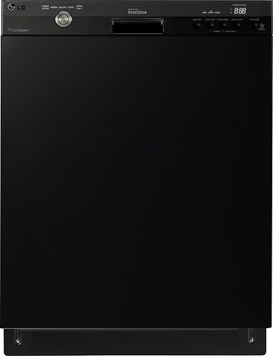 """LG 24"""" Tall Tub Built-In Dishwasher with Stainless Steel Tub Smooth Black LDS5540BB"""
