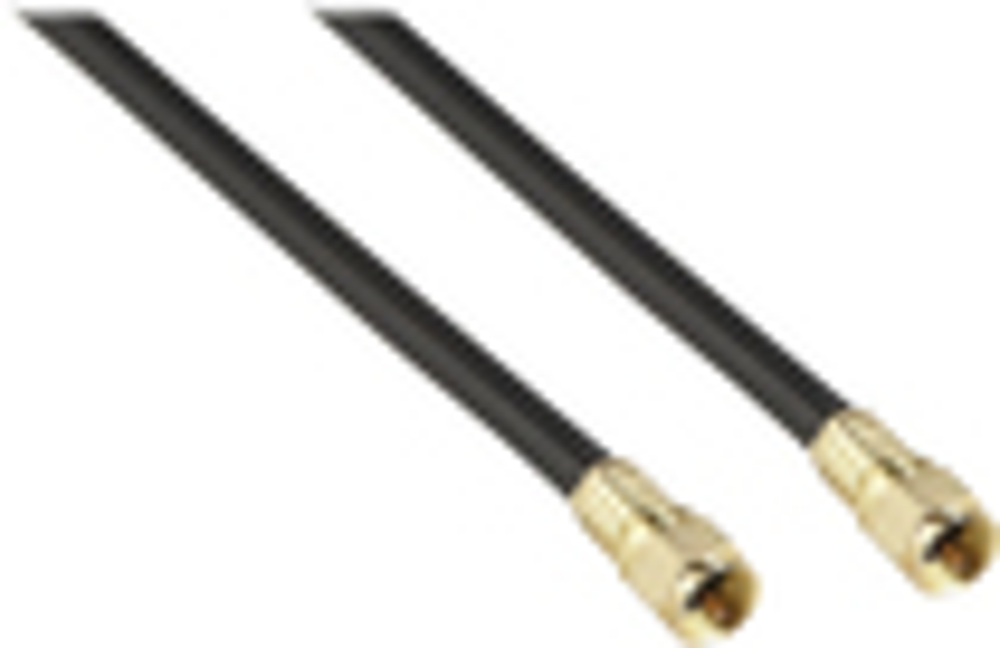 Rocketfish™ - 6' RG6 In-Wall Indoor/Outdoor Coaxial A/V Cable - Black