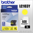 Brother - LC103Y XL High-Yield Ink Cartridge - Yellow