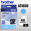 Brother - LC103C XL High-Yield Ink Cartridge - Cyan