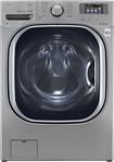Lg - Turbowash 4.3 Cu. Ft. 14-cycle High-efficiency Steam Front-loading Washer - Graphite Steel 6612595
