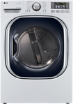 LG - SteamDryer 7.4 Cu. Ft. 14-Cycle Ultralarge-Capacity Steam Electric Dryer - White