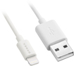 "Dynex™ - 4"" Lightning Charge-and-Sync Cable - White"