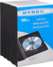 Dynex™ - 10-Pack DVD Storage Cases - Black