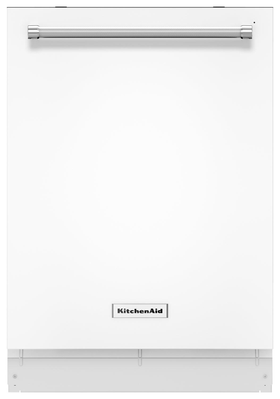 KitchenAid - 24 Tall Tub Built-In Dishwasher - White