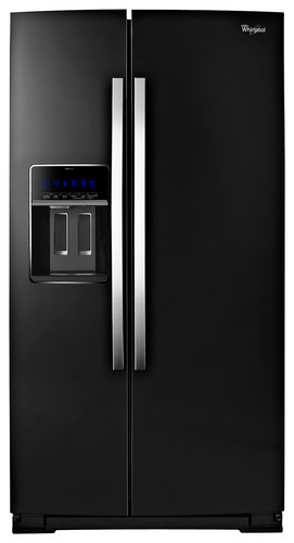 Whirlpool - 19.9 Cu. Ft. Side-by-Side Counter-Depth Refrigerator - Black Ice