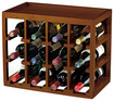 Wine Enthusiast - Cube Stack 12-bottle Wine Rack - Walnut