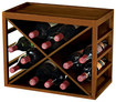 Wine Enthusiast - Cube Stack X-style 16-bottle Wine Rack - Walnut