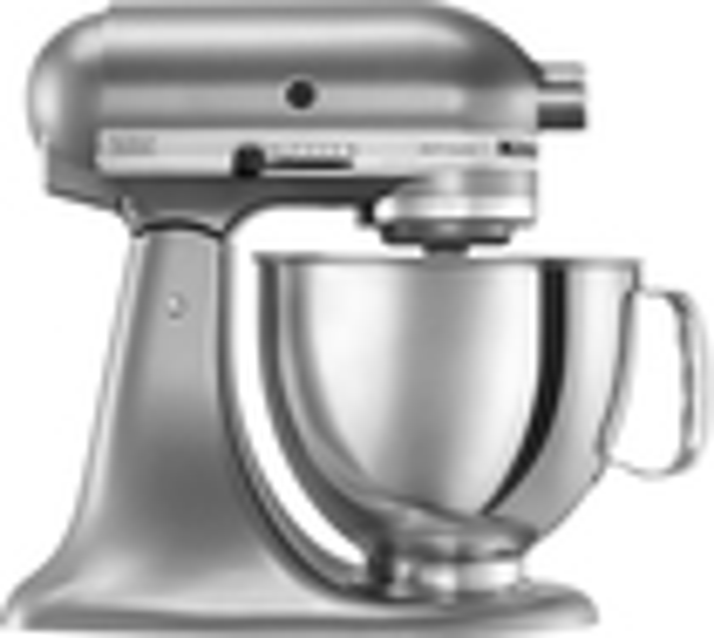 KitchenAid - Artisan Series Tilt-Head Stand Mixer - Contour Silver