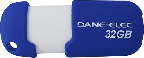Dane-Elec - 32GB USB 2.0 Flash Drive - Blue/White