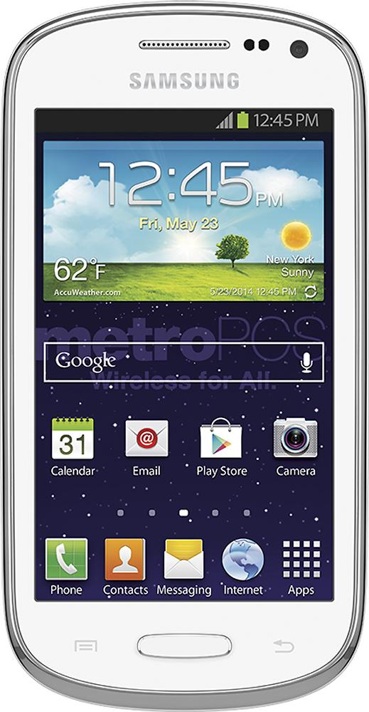MetroPCS - Samsung Galaxy Exhibit 4G No-Contract Cell Phone - White