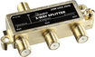 Rocketfish™ - 3-Way Coaxial Splitter - Gold