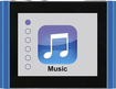 Eclipse - Fit Clip Plus 8GB* MP3 Player - Blue