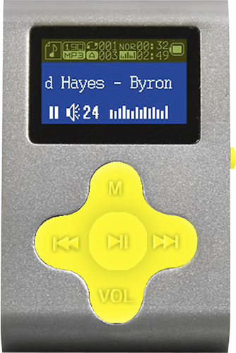 Eclipse - Fit Clip 4GB* MP3 Player - Silver/Yellow