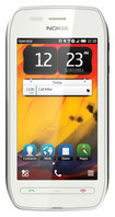 Nokia - 603 with 2GB Memory Cell Phone (Unlocked) - White/Pink