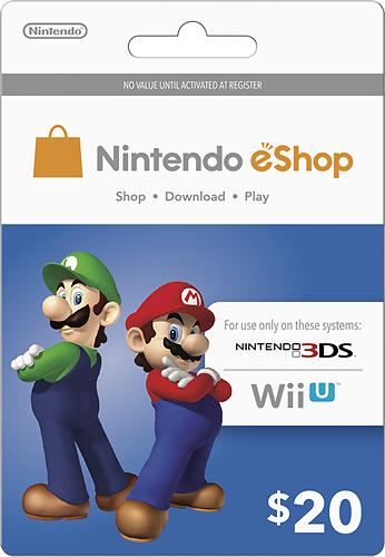 Nintendo - Nintendo eShop Prepaid Card ($20) - Multicolor