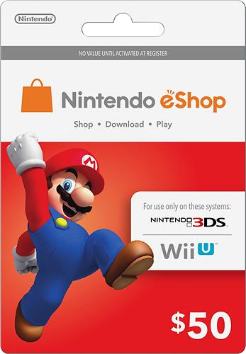 Nintendo - Nintendo eShop Prepaid Card ($50) - Multicolor