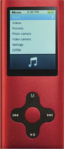 Eclipse - 180 Pro 4GB* Video MP3 Player - Red