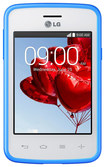 LG - L30 Sporty Dual with 4GB Cell Phone (Unlocked) - White/Blue